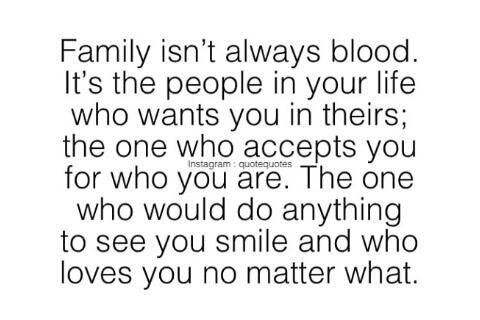 Blood IS NOT Thicker ThanWater